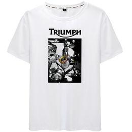 $enCountryForm.capitalKeyWord Australia - Triumph t shirt Motorbike engine short sleeve tops Rider team fadeless tees Unisex white colorfast clothing Pure color modal Tshirt