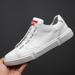 $enCountryForm.capitalKeyWord Australia - 2019 New Men's Leather Korean Casual Shoes Sports Men's Shoes Tide Spring and Summer Ventilated Board Shoes