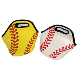Chinese  Neoprene Baseball Lunch Bag Sports Softball Tote Insulated Cooler Bags Unisex Food Carrier Storage Bags Waterproof Handbags GGA1719 manufacturers