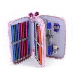$enCountryForm.capitalKeyWord Australia - 48 Color 52 Hole Gray Multi-function Stationery Bag 24 36 48 72 Stick Pencil Curtain Sketch Color Pencil Bag Large Case