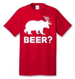 $enCountryForm.capitalKeyWord Australia - Bear Deer BEER? 100% Cotton Tee Shirt #K001 Men Women Unisex Fashion tshirt Free Shipping black