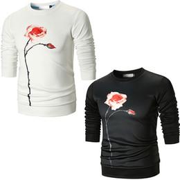 Discount men flower clothes - 3D Print Clothing Hoodies White Black Colors M-3XL Men Women Casual Pullover Men Autumn Fashion Flower