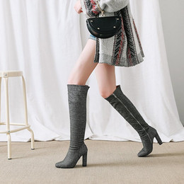 $enCountryForm.capitalKeyWord Australia - Hot Sale-Fashion Over the Knee Boots Women Sexy Block High Heel Thigh high Boots Patent leather Party Fetish Shoes Woman Black Plus Sizes