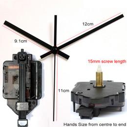 Type clocks online shopping - New Design mm Screw Length Pendulum Type Movement With Black Hands Step Clock Accessory Quartz Diy Movement Kits