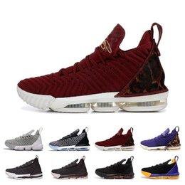 timeless design a4f04 43752 2019 New 16s Black White Gold Red Men Basketball Shoes lebrons 16 Mens  Trainers Sports Designer Basket ball Sneakers Size 40-46