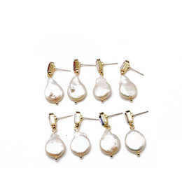 2233ba2c5 Stone Stud earringS deSignS online shopping - Baroque Teardrop Pearl  Geometric Glass Stones Four Colors Cute