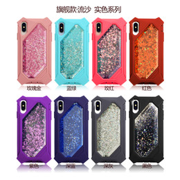 $enCountryForm.capitalKeyWord NZ - Quicksand Defender Glitter Flowing Liquid Floating Soft Bumper Heavy Duty Girls Women Cute Case for Iphone 6 6S 7 8,Cover for Iphone X XS