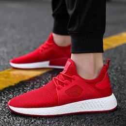 Popular Casual Shoes For Men Australia - Fashion Hot Sale Popular Casual Shoes for Men High Quality Fashion Comfortable Brands Breathable Male Shoes Gray Red Black Sneakers