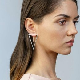 $enCountryForm.capitalKeyWord Australia - 2019 New Arrival Hot Selling Popular Fashionable Simple Triangle Silver Gold Stud Earrings for Women Back Stud Earrings E5321