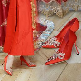 $enCountryForm.capitalKeyWord Australia - 1Sharp High With Red Wedding Shoes Bride Shoe Toast Xiuhe Shoes Crystal White Wedding Dress Bridesmaid Shoe