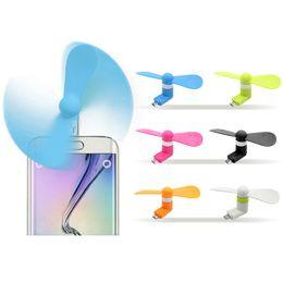 Taşınabilir USB Soğutucu Mini Soğutma USB Fan IOS iphone Için XR X Samsung Samsung Xiaomi Huawei LG Android Telefon Mikro USB Hayranları Gadgets indirimde