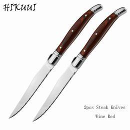 New 2pcs 9-Zoll-Laguiole Art-Qualitäts-Steak-Messer-Set mit Holzgriff Abendessen Messer-Steak-Abendessen Besteck Besteck-Sets im Angebot