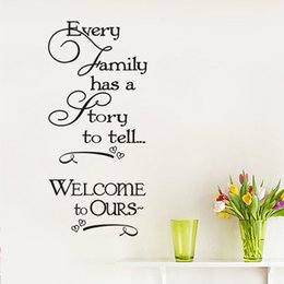 $enCountryForm.capitalKeyWord Australia - 1 Pcs Diy Vinyl Every Family Has A Story Wall Stickers For Kids Living Room Waterproof Calligraphy Mural Home Decor Wall Art Decal