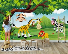 paintings yellow background NZ - Custom 3d wallpaper beautiful original forest animal children's room background wall painting wall papers home decor
