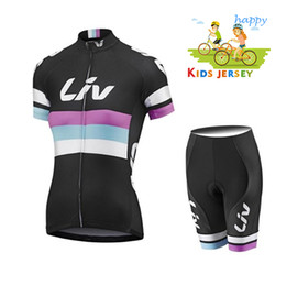 fluorescent jerseys UK - 2020 Breathable LIV Kids Cycling Jersey Set Shorts Fluorescent Pink Children Bike Clothing Boys Girls Summer Bicycle Wear