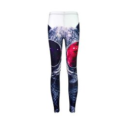 ankle leggings wear UK - Women Leggings Glasses Cat 3D Graphic Full Printed Fitness Yoga Wear Pants Lady Sportwear Pencil Fit Girls Gym Casual Trousers (RLLgs3493)
