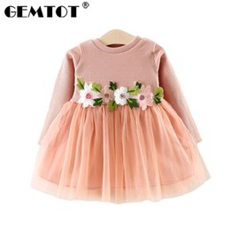 $enCountryForm.capitalKeyWord Australia - GEMTOT 2019New spring and autumn infant knit dress Long sleeves embroidery flowers cute tutu dress For 0-3 year old baby girl k1