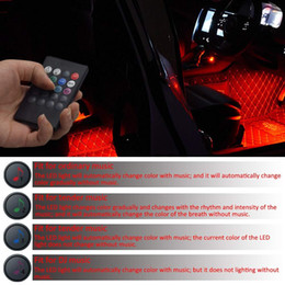 $enCountryForm.capitalKeyWord Australia - Car LED Strip Light 48 LEDs Multicolor Car Interior Light with Sound Active Function Wireless Remote Control Car Charger