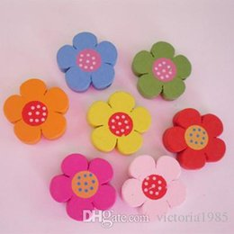 crafting buttons Australia - New cartoon colorful wooden Buttons for crafts DIY sunflower  Ladybug dolphin sewing supply scrapbooking accessories decorativos