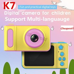 $enCountryForm.capitalKeyWord Australia - Cheap Portable K7 Cute Children Camera Full HD Digital Video Camera 2 Inch LCD Screen Display Children for Home Travel photo Camera