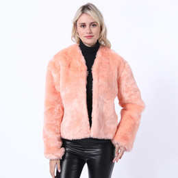 Ladies imitation fur coats online shopping - Imitation rabbit fur coat female autumn and winter lady short paragraph rex rabbit artificial fur one coat slim NV081