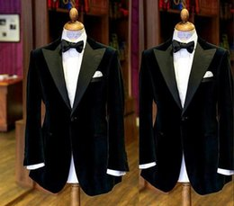Beige Slim Suits For Men Australia - Black Men Suits 2019 Fashion Groom Tuxedos Wedding Suits For Men Slim Fit Prom Tuxedos For Best Man(Jacket+Bow)