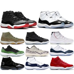 basketball shoes 11 grey Australia - High 11s Men Women Basketball Shoes 11 Concord 45 Platinum Tint Cap and Gown UNC Gym Red Space Jam Jumpman Trainer Sport Sneaker