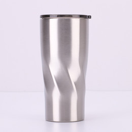 $enCountryForm.capitalKeyWord UK - Creative Design Stainless Steel Tumbler Curving Tumbler Spiral shape Double Wall Vacuum Insulated Coffee Mug Cup for cold and hot drinks