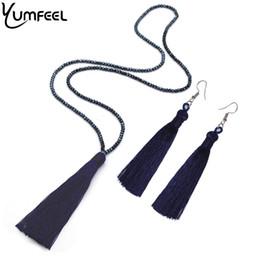$enCountryForm.capitalKeyWord UK - umfeel New Necklaces Earrings Jewelry Set Long Faceted Glass Beads Crystal Necklace Tassel Earrings Set Women Gifts Yumfeel New Tassel N...