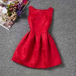 5b367f888e5f Girls Clothing 11 12 Years Australia - Summer Brand 2019 Princess Girl Dress  Red Kids Clothes