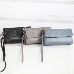 Silver Small Hand Bag Australia - Overseas2019 Leather Genuine Summer Woman Hand Take Single Shoulder Satchel Mobile Phone Small Bag Square Package