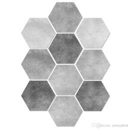 $enCountryForm.capitalKeyWord UK - Wall Sticker Sexangle Hexagon DIY Creative Decoration Parties Celebrations Eco-Friendly Sticker Antiskid Non-Slip Skid-Proof Floor Film