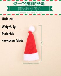 Christmas lollipop Candy online shopping - 10 pcsBest sellers Christmas decorations Mini Christmas hat lollipop hat non woven small cap cute candy