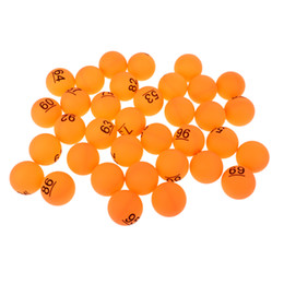 lucky packs UK - Pack of 50 Pong Balls PP Material 40mm Training Table Tennis Ball Lucky Dip Gaming Lottery Washable Number.51-100