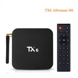 Discount android tv dual box bluetooth - Android 9.0 TX6 TV Box 4GB 64GB Allwinner H6 Dual Wifi 2.4G 5G Bluetooth 4.1 4K HD Smart TV Box