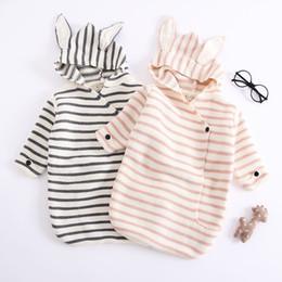 $enCountryForm.capitalKeyWord Australia - New INS Infant Toddler Baby Boys Girls Stripes Blanket Newborn Sleeping Bags Baby Wraps Was Quilt Winter Spring Sweater Baby Wraps for 0-6M