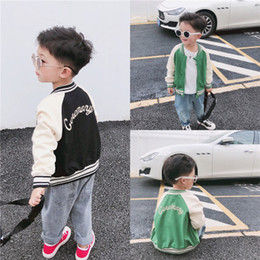 fashion kids jacket korean Canada - kids coats doudoune enfant 2019 new children coat boys kids designer jacket Korean fashion baby baseball uniform tide