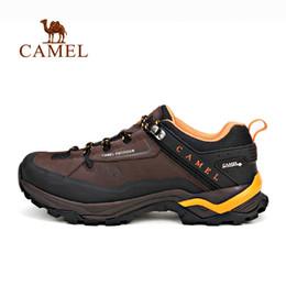 4f64ebd9 Camello exterior zapatos de senderismo para hombres de cuero antideslizante  transpirable cómodo y resistente al agua camping escalada zapatillas de  trekking ...