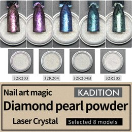 $enCountryForm.capitalKeyWord Australia - KADITION New Colorful Nail Glitter 3D Mirror Sparkly New DIY Design Sequins Spangles Polish Manicure Nails Glitter for Art Deco