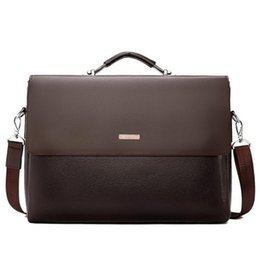 $enCountryForm.capitalKeyWord UK - New Business Men Briefcase Leather Laptop Handbag Casual Man Bag For Lawyer Shoulder Bag Male Office Tote Messenger bag free shipping