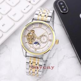 $enCountryForm.capitalKeyWord Australia - Luxury Men Tourbillon Moon Phase Wristwatches Business Gentleman Mechanical Automatic Watch Exquisite Stainless steel Men Watches