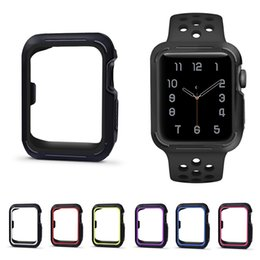 $enCountryForm.capitalKeyWord Australia - electroplate protective Case for Apple Watch iWatch series 1 2 3 38mm 42mm 40mm 44mm Plating Soft Silicone Caseshell perfect match 10 color