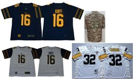 Football American Australia - Mens California Golden Bears 16 Jared Goff Vintage College Los Angeles 33 Derwin James 32 Franco Harris Color Rush American Football Jerseys