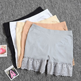 Cotton underwear laCe elastiC online shopping - High Quality Girl Safety Shorts Pants Solid Underwear Soft Elastic Cotton Leggings Girls Lace Briefs Short Pants
