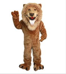 $enCountryForm.capitalKeyWord UK - Friendly lion mascot costumes 100% real picture adults christmas Halloween Outfit Fancy Dress Suit Free Shipping