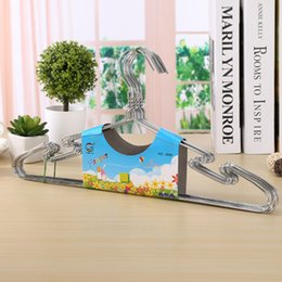 Car Clothes Hanger Australia - wholesale 200pcs High Quality Metal Clothes Hanger with Groove Stainless Steel Hanger Silver 40cm Drying Rack