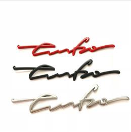 Chrome Engines Australia - Car 3D Metal Turbo Emblem Body Engine Rear Trunk Emblem Badge For Car Decoration Chrome Black Red