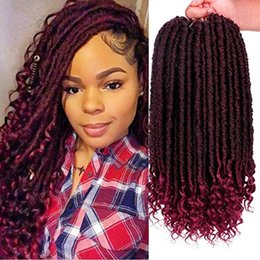$enCountryForm.capitalKeyWord Australia - Faux Locs Straight Crochet Hair Goddess Locs Crochet Hair with Curly Ends 16 Inch Synthetic Prelooped Crochet Twist Hair Extensions(1B Bug#)