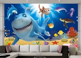 underwater 3d wallpaper Australia - 3d room wallpaper custom photo mural Cartoon Underwater World Fish Story decor background painting 3d wall murals wall paper for walls 3 d