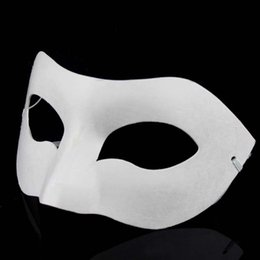 Adult white blAnk fAce mAsk online shopping - 2000pcs Best DIY Mask Hand Painted Halloween White Face Mask Crown Butterfly Blank Paper Mask Masquerade Party Cosplay